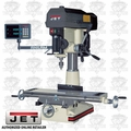 JET 350120 JMD-18PFN Mill Drill + ACU-RITE VUE DRO + X-Axis Table Powerfeed