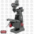 JET 690411 JTM-4VS-1 2HP 1PH 115/230V Mill + VUE 3AXIS Knee DRO, X-TPFA