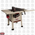 "JET 708492K 10"" Proshop Table Saw + 30"" Fence, Steel Wings w/Knife"