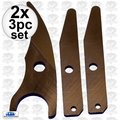 "Kett 115 2x 3pk 5/8"" Fiber Cement Shear Replacement Blade Kit"