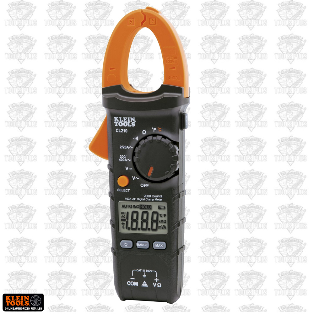 Clamp Meter How Much : Klein cl a digital ac clamp meter with temperature