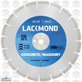 "Lackmond SG14SPL1251 14"" x .125 x 1"" Wet/Dry Concrete Diamond Blade"