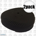 "Lake Country 44-7650KR 2pk 7"" Black Finessing Kompressor Foam Pad"