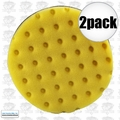 "Lake Country 78-5165-152M 2pk 6-1/2"" Yellow CCS Auto Buffing Pad"