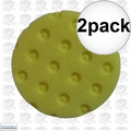 "Lake Country 78-54400-1 2pk 4"" Yellow CCS Spot Buffs Foam Pad"