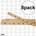 Lufkin 066 8pk 6 ft Red End Wood Rule