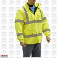 Majestic 75-1303-2XL 2XL Hi-Vis Parka Fleece Lined Yellow Cold-Weather