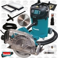 "Makita 5057KB 1x 7-1/4"" Fiber-Cement Circular Saw w/ Dust Collection Kit"