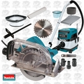 "Makita 5057KB 7-1/4"" Fiber-Cement Circular Saw w/HEPA Vac Dust Collector"
