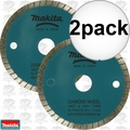 "Makita 724950-8D 2pk 3-3/8"" Wet/Dry Diamond Saw Blade"