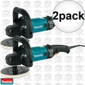 "Makita 9237C 10 Amp 120V 7"" Variable Speed Electronic Polisher 2x"
