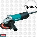 Makita 9558PB 4pk 7.5 Amp Motor 5-Inch Angle Grinder with Paddle Switch
