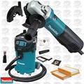 Makita 9564P 10A SJS AC/DC Angle Grinder w/ Paddle + Dust Guard and HEPA Vac