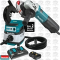 "Makita 9565PC SJS 5"" Angle Grinder with Dust Guard and HEPA Vac"