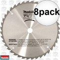 "Makita A-90629 8pk 7-1/2"" x 40 Tooth Carbide Tipped Saw Blade"