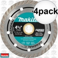 "Makita A-94552 4pk 4-1/2"" Turbo Rim Diamond Masonry Blade"