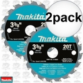 "Makita A-95021 2pk 3-3/8"" x 20 Tooth Carbide Circular Saw Blade"