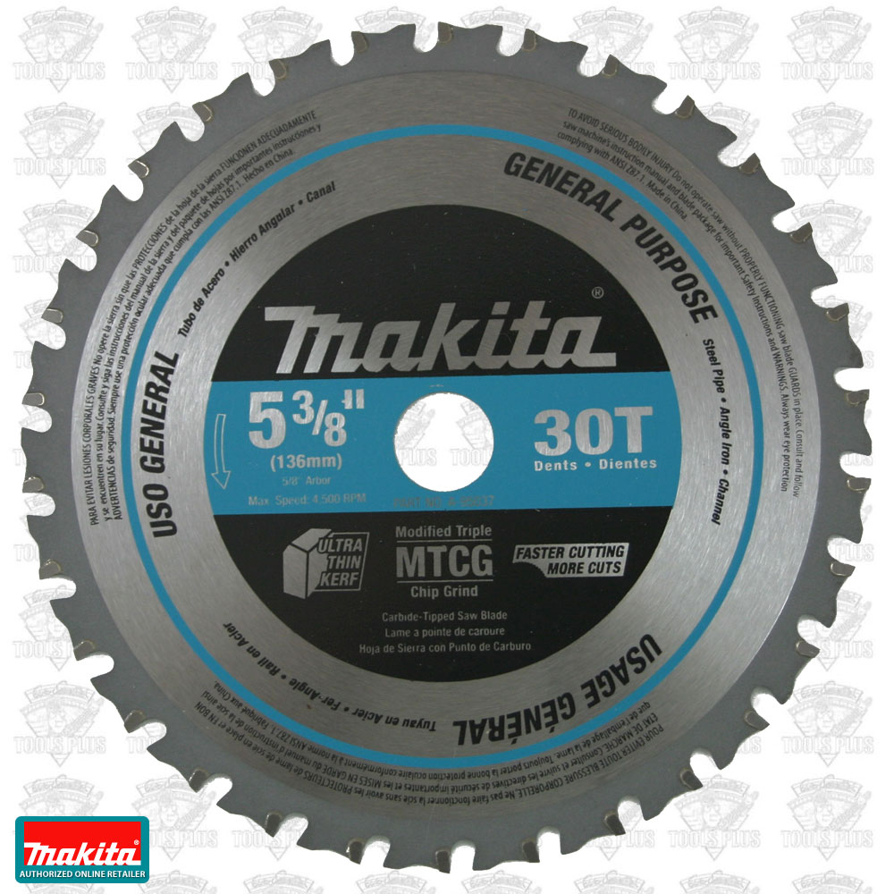 Makita a 95037 5 38 30t carbide tipped ferrous metal cutting saw blade greentooth Images