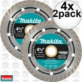 "Makita A-97617 4x 2pk 4-1/2"" General Purpose Turbo Rim Diamond Blades"