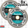 "Makita A-97617 8x 2pk 4-1/2"" General Purpose Turbo Rim Diamond Blades"