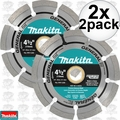 "Makita A-97623 2x 2pk 4-1/2"" General Purpose Segmented Diamond Blades"