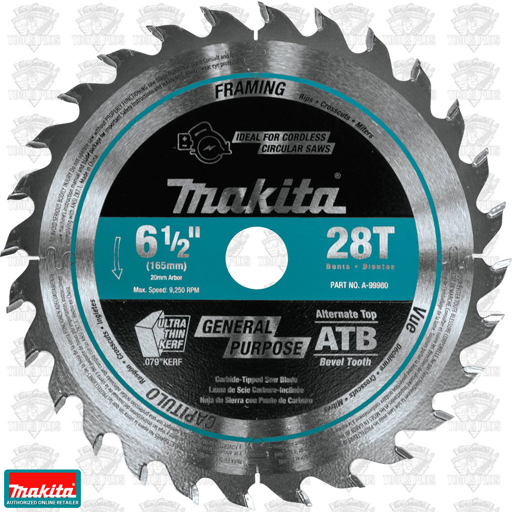 Makita a 99960 6 12 28t carbide tipped cordless plunge cut track makita a 99960 6 12 28t carbide tipped cordless plunge cut track saw blade greentooth Gallery