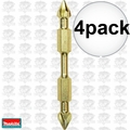 "Makita B-39615 4pk Impact GOLD #2 3-1/2"" Phillips Power Bit Double-Ended"