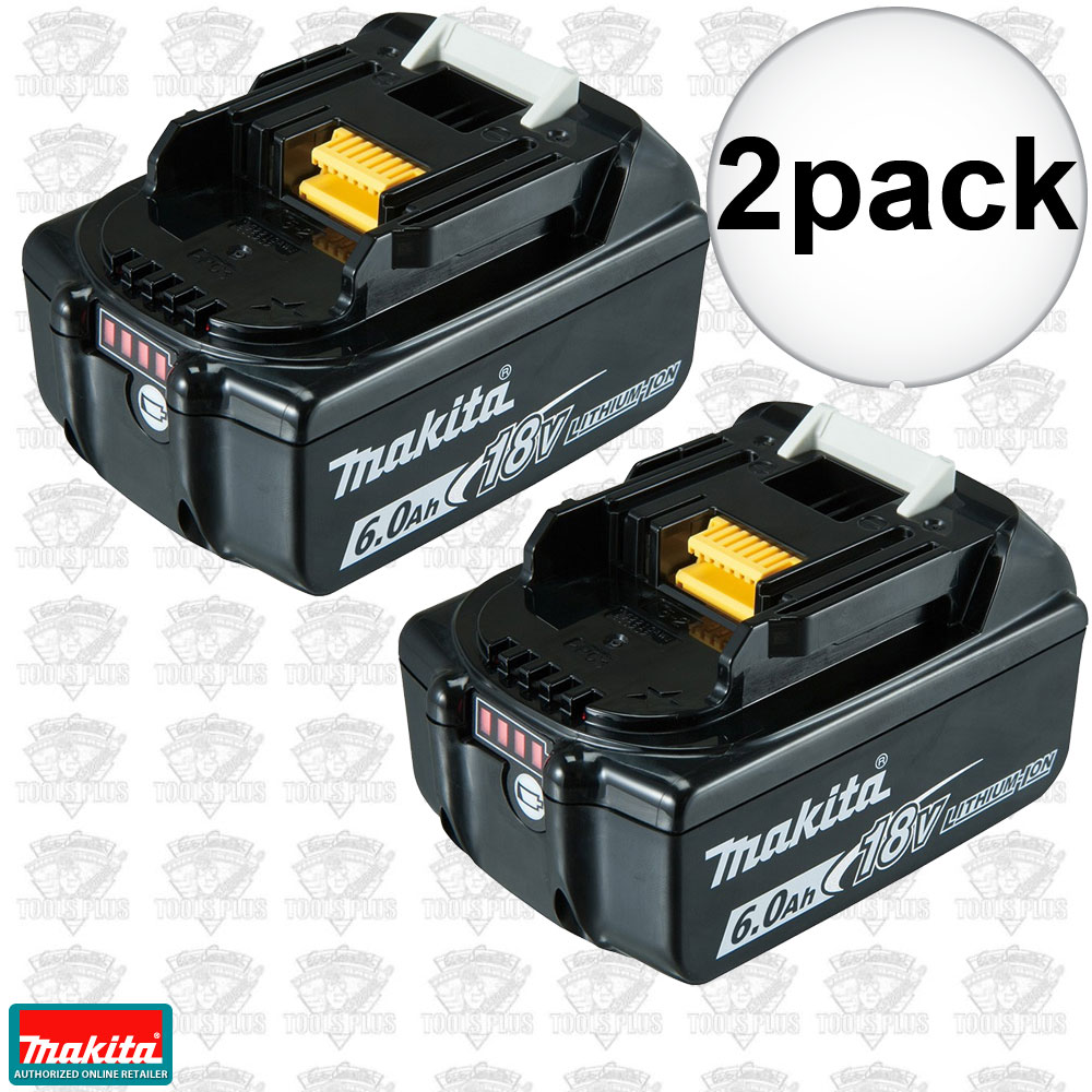 Makita bl1860b2 2pk 18v 6ah li ion battery with fuel gauge - Batterie makita 18v ...