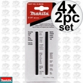 "Makita D-46246 4x Set of 2 3-1/4"" Double Edge Reversible Carbide Blades"