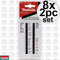 "Makita D-46246 8x Set of 2 3-1/4"" Double Edge Reversible Carbide Blades"