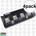 Makita DC18SF 4x 4 port 18 Volt LXT Cordless Battery Charger