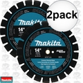 "Makita T-01270 2pk 14"" Segmented Dual Purpose Diamond Blade"