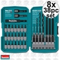 Makita T-01373 8x 38pc Impact Drill-Driver Bit Set