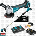 Makita XRU07PTX1 18V X2 LXT Li-Ion Cordless String Trimmer + Angle Grinder