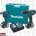 Makita XT211M 18 Volt 2 Piece LXT Combo Kit w/ 4.0 Ah Batteries