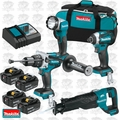 Makita XT450T-X1 18V LXTLi-Ion Brushless Cordless 4-Pc. Combo 4 Batt Kit