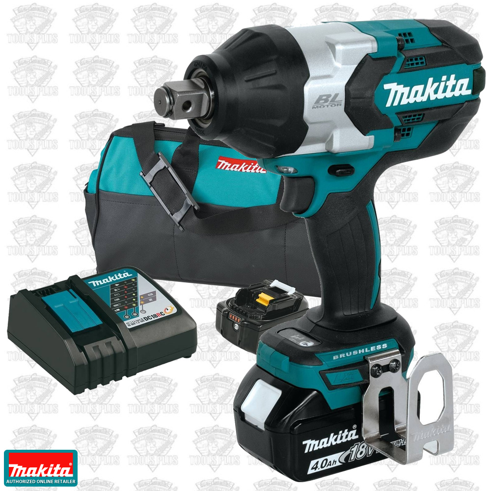 Makita Xwt07m 18v Lxt Brushless 3 4 Square Drive Impact Wrench Kit Stanley Driver