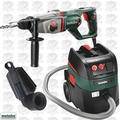 "Metabo KHE D-26 1"" SDS Combination Rotary Hammer HEPA Vac + Dust Extraction"