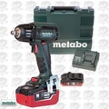 "Metabo SSW18LTX400BL 18V LTX 5.5Ah Li-Ion 1/2"" Impact Wrench Kit O-B"