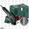 "Metabo W 12-125 HD CED 10.5 Amp 5"" Masonry Cutting/Scoring Angle Grinder"