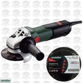 "Metabo W9-115 8.5 Amp 4-1/2"" Angle Grinder w/ Lock-On + 10pk Wheels"