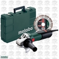 "Metabo 600354850 4-1/2"" 8.5amp Angle Grinder w/ Case and Diamond Wheel"