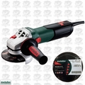 "Metabo W9-115-QUICK 4-1/2"" Angle Grinder w/ Quick Wheel Change + 10pk Wheels"