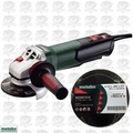 "Metabo WP 12-115 QUICK 4-1/2"" 10.5amp Angle Grinder w/10pk Cut Off Wheels"