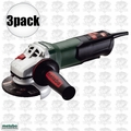"Metabo WP9-115 Quick 3pk 4-1/2"" 8 AMP Angle Grinder w/ Non-Locking Paddle"