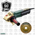 "Metabo WP9-115QUICK-50 Anniversary Edition 4.5"" 8A Angle Grinder w/ Paddle O-B"