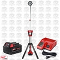 Milwaukee 2130-20 M18 TRUEVIEW LED Stand Light w/ 5.0Ah Batt + Charger