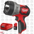 Milwaukee 2353-20 TRUEVIEW M12 LED Spotlight w/ 2.0Ah Battery + Charger