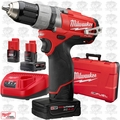"Milwaukee 2403-22 12 Volt M12 FUEL 1/2"" Drill/Driver w/ 3 Batteries"
