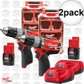 Milwaukee 2404-21P M12 FUEL Hammer Drill Kit w/ Free PACKOUT Case 2x